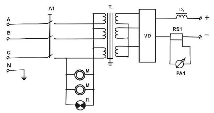 иллюстрация электрической схемы