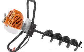 Сила мотобура: как устроен мотобур, разновидности ручной бурильной техники