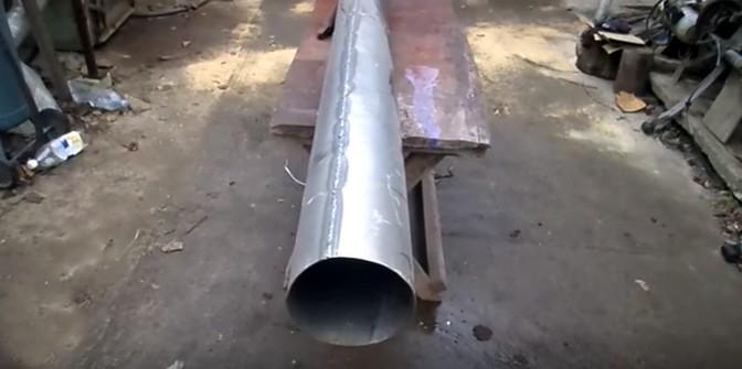 фото самодельной трубы